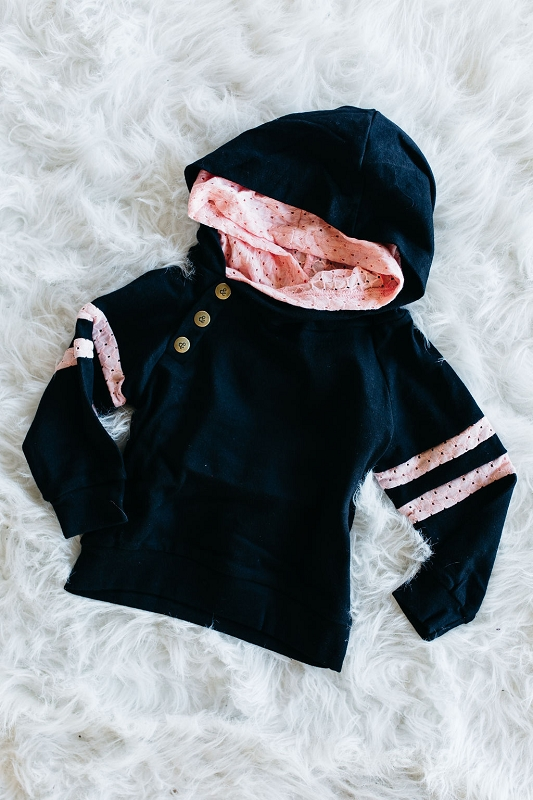 Kids Doublehood Sweatshirt - Pink Lace