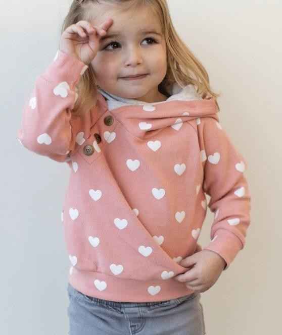Kids Doublehood Sweatshirt - All the Heart Eyes