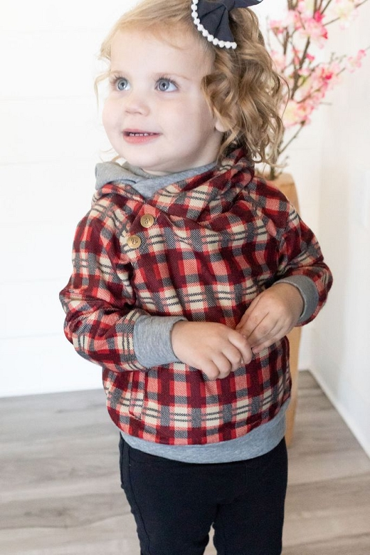 Kids Doublehood Sweatshirt - Wrap It Up Plaid