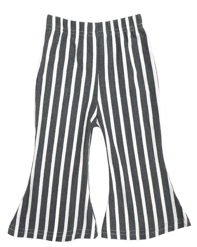 Boho Bell Bottoms | Charcoal Stripe
