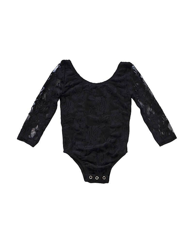 Lace Leotard | Black