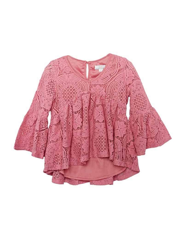 Charly Lace Bell Sleeve Top