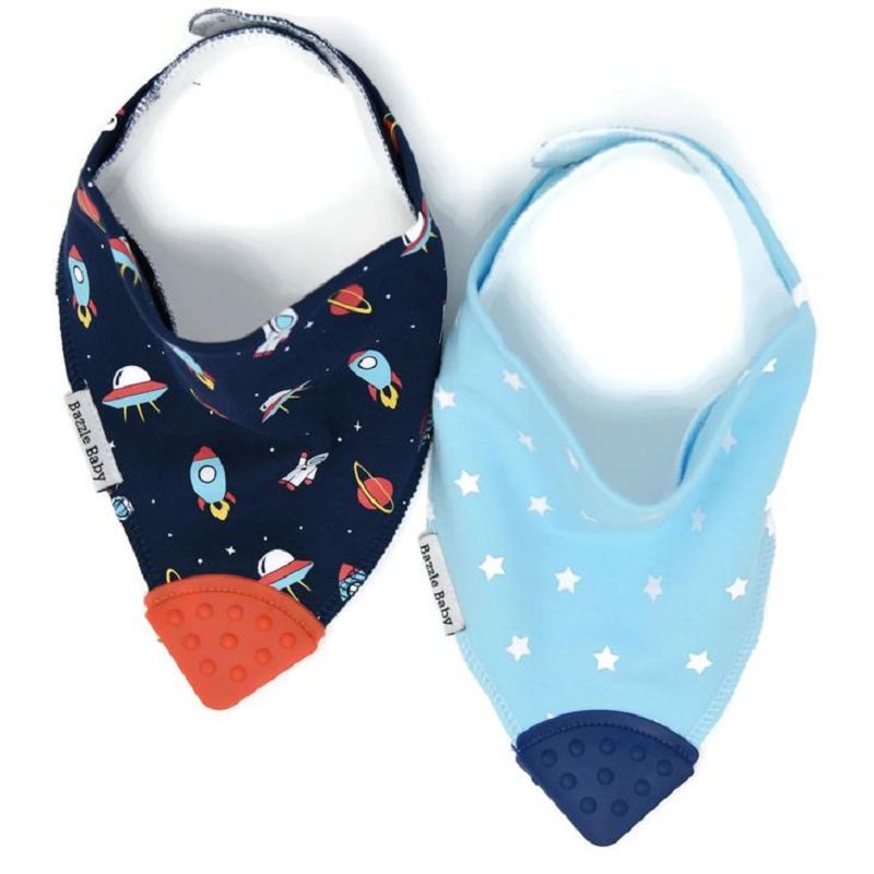 Banda Bib Teether 2 pack | Space Cadet