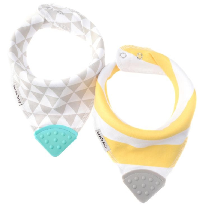 Banda Bib Teether 2 pack | Triangles & Stripes