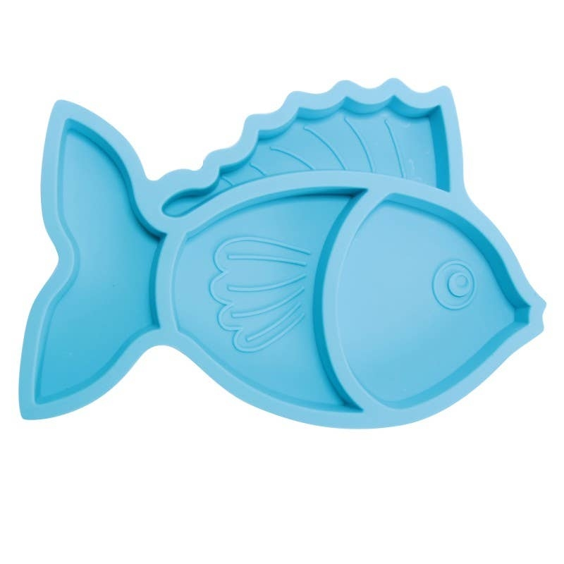 Silicone Divided Plate | Fish