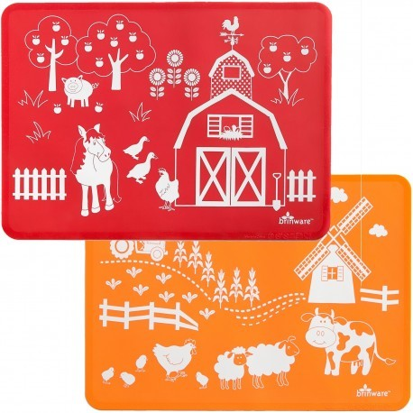 Silicone Placemat Set | Barn Yard Friends