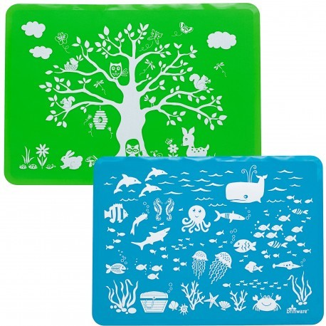 Silicone Placemat Set | Land and Sea