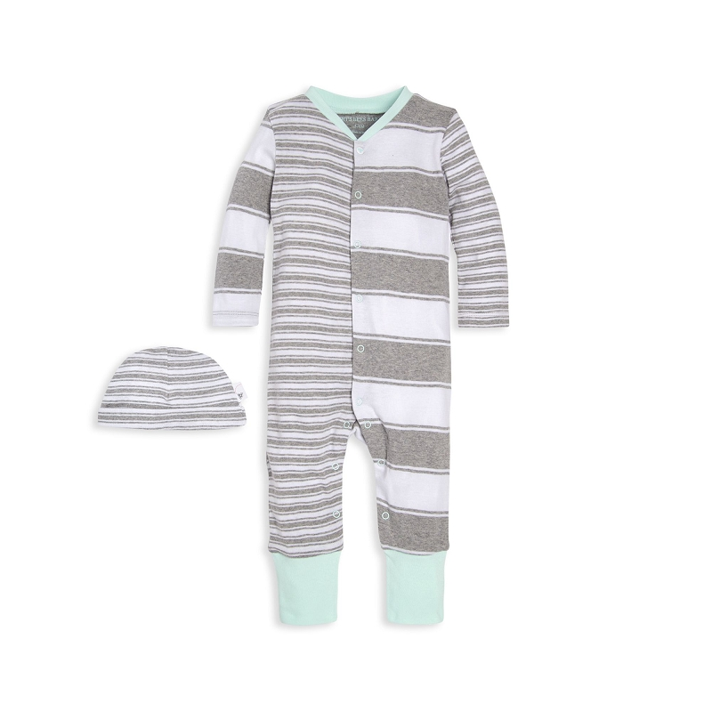 Striped Colorblock Jumpsuit and Hat Set