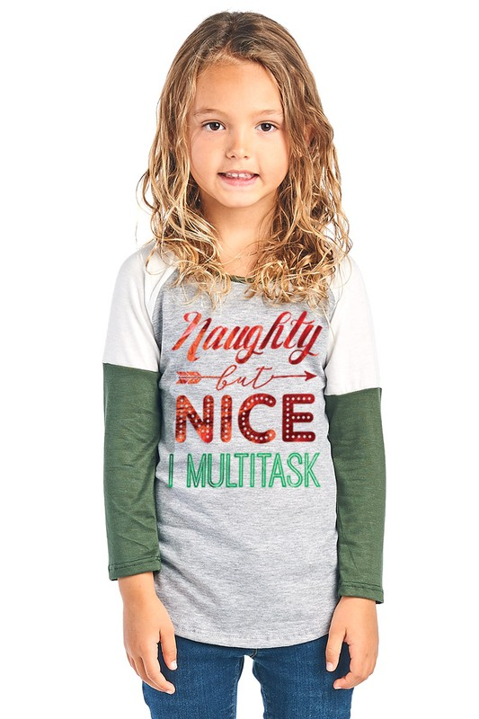 Naughty or Nice Raglan Top
