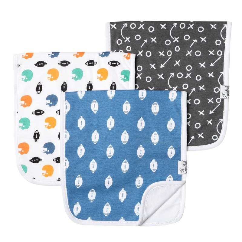Burp Cloths 3 pk |Quarterback
