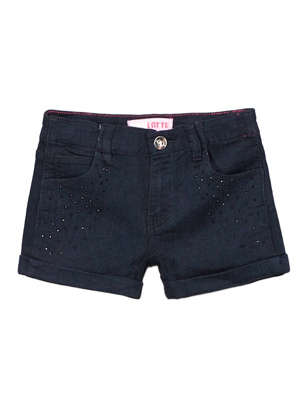 Toddler Rhinestone Cuffed Denim Shorts