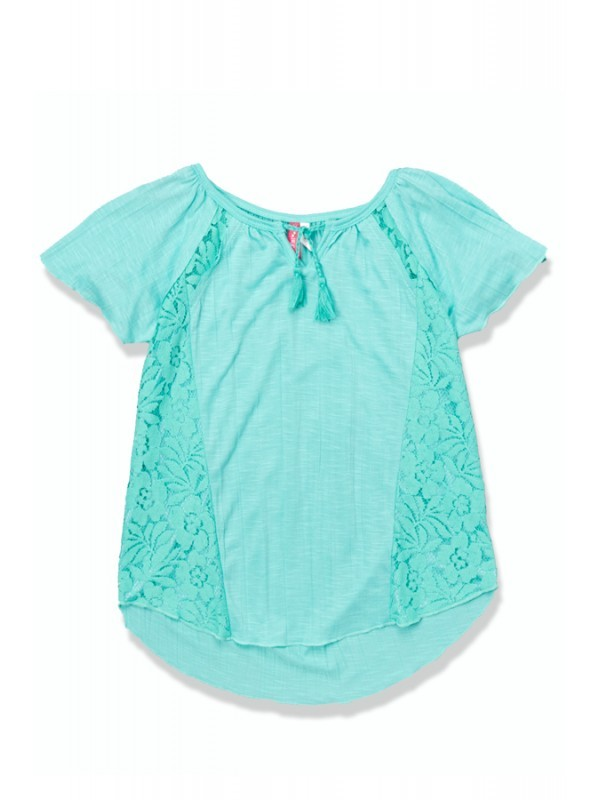 Toddler Mint Peasant Top