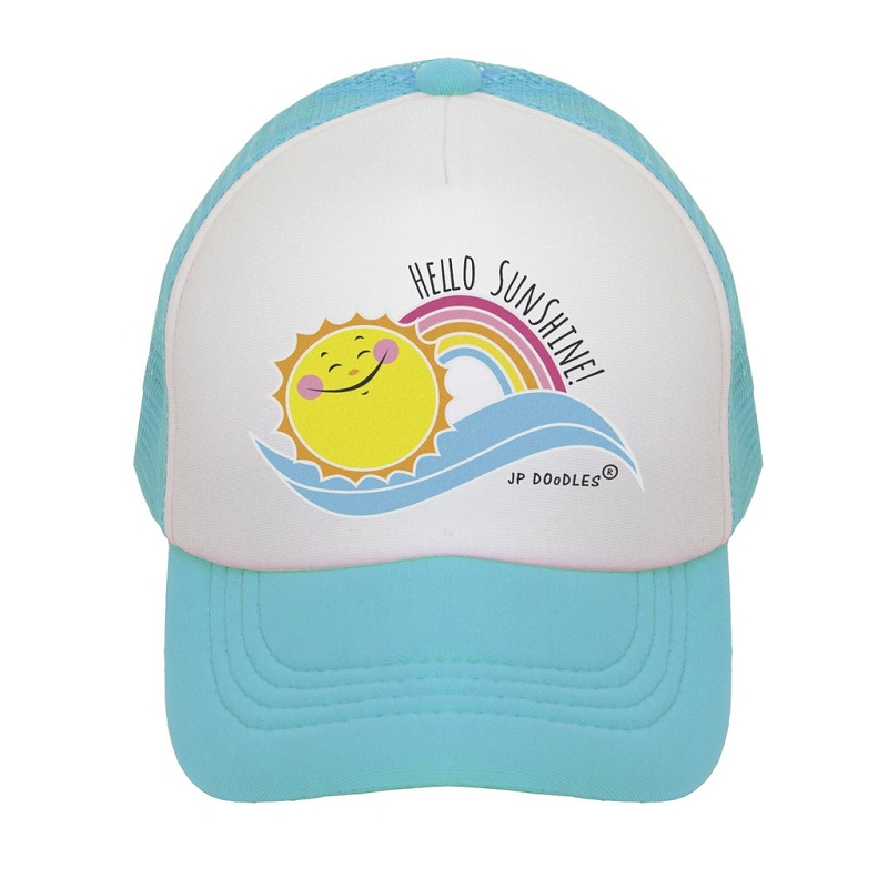 Kids Trucker Hat | Hello Sunshine Aqua