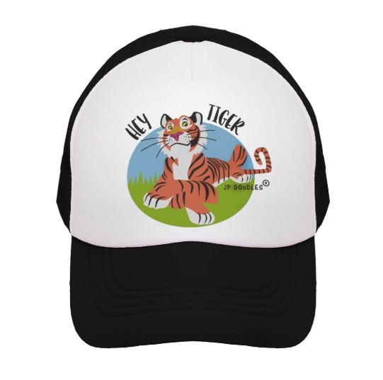 Kids Trucker Hat | Hey Tiger Black