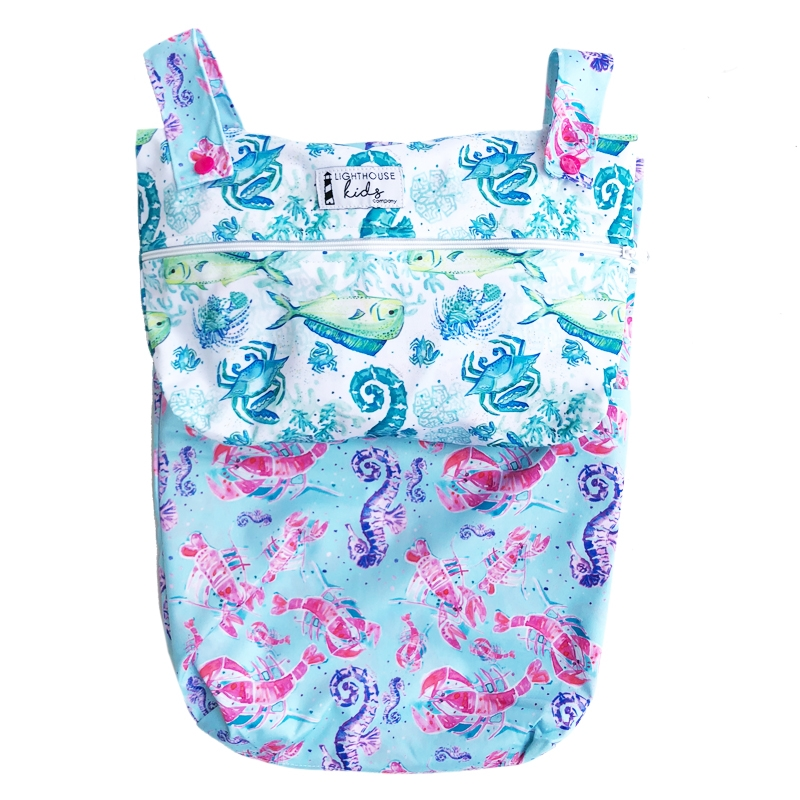 Lighthouse Medium Wet Bag - Coral Cove  **Go Coastal series**