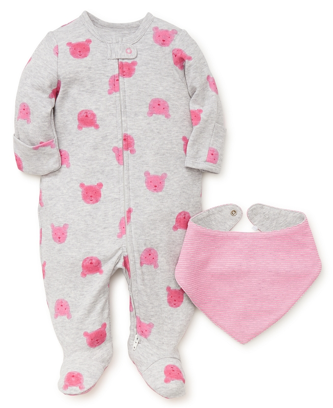 Bear Footie | Pink