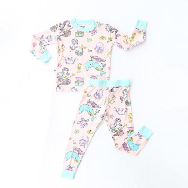 Mermaid Two-Piece Bamboo Pajama Set