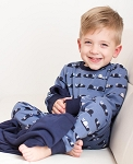 Organic PJ Set - Navy Snails