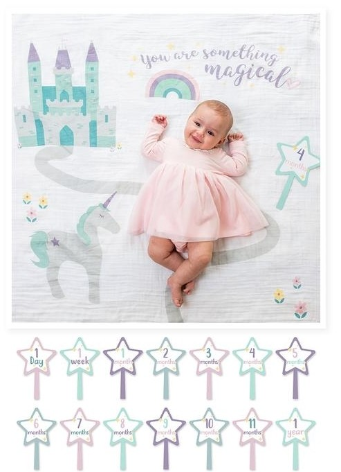 Baby's First Year Blanket & Card Set | Something Magical