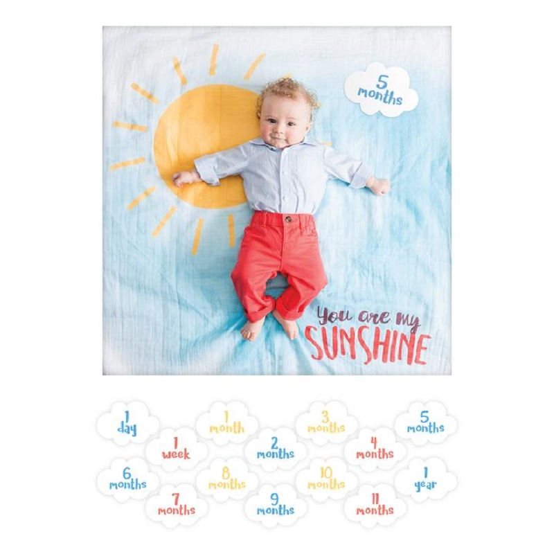 Baby's First Year Blanket & Card Set | You Are My Sunshine