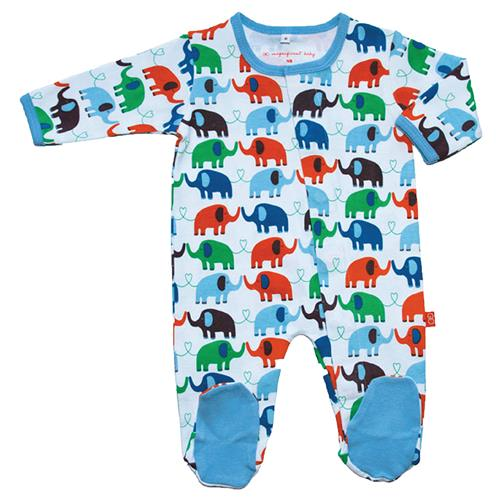 Cotton Magnetic Footie | Blue Elephant