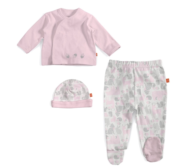 Magnetic Kimono 3pc Set | Pink Forest