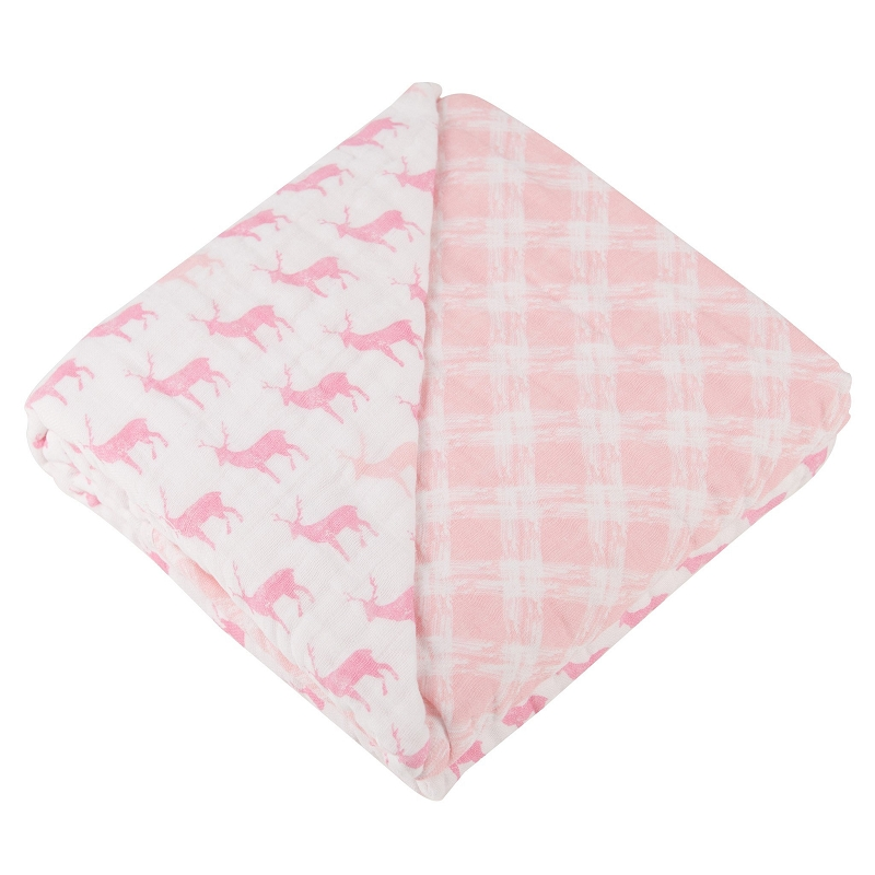Sweet Dream Blanket | Pink Deer & Primrose Plaid