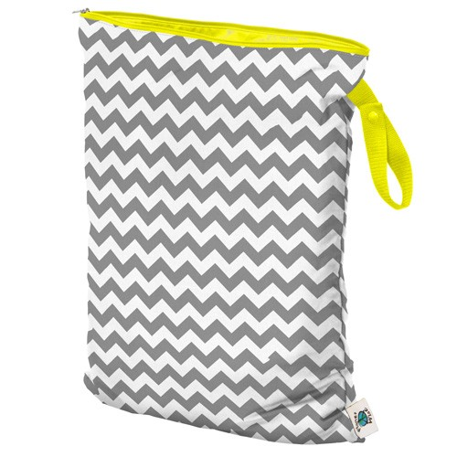 Planet Wise Large Wet Bag | Grey Chevron