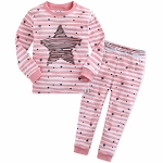 Pink Scribble Star 2pc PJ Set