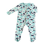 Bamboo Printed Footies - Animals (Pool & Twilight)