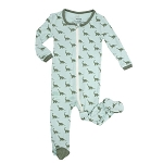 Bamboo Printed Footies - Dino