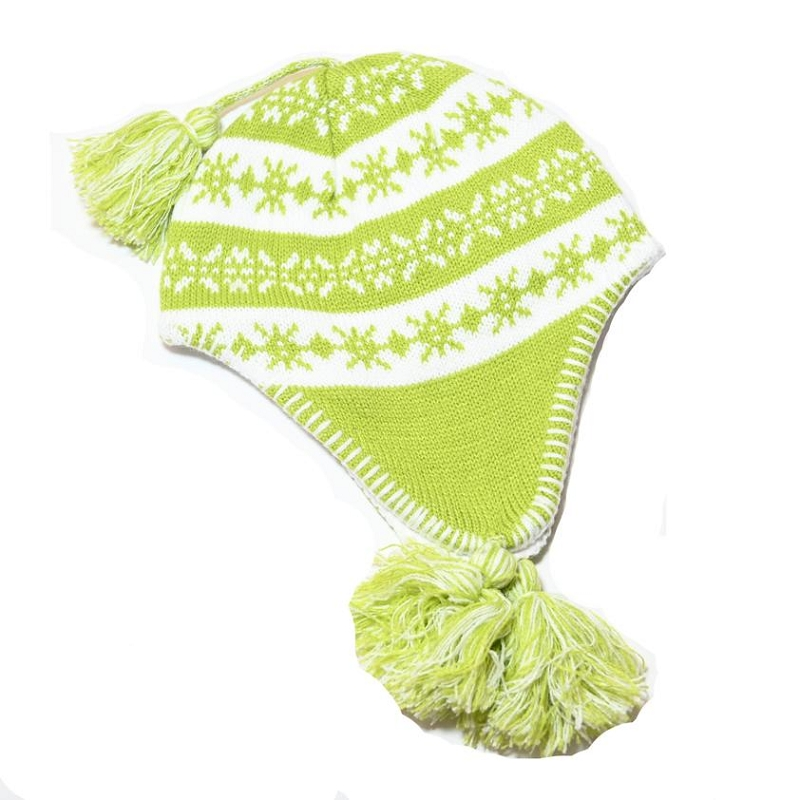 Knit Lined Hat | Lime Green