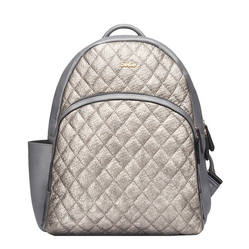 Boise Backpack Diaper Bag | Silver