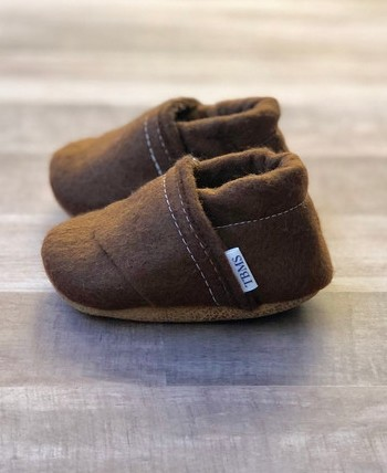 Felt Loafers | Brown