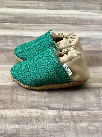 Basic Low Tops | Green Plaid