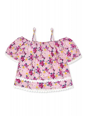 Toddler Floral Off-shoulder Top